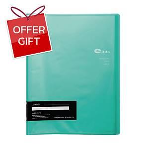 E-FILE 720A DISPLAY BOOK NON-REFILLABLE A4 40 POCKETS GREEN