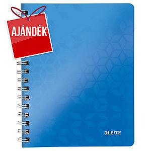 Leitz 4639 WOW spirálozott vonalas jegyzetfüzet, A5, kék