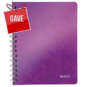 Notesbog Leitz WOW, A5, linjeret, lilla