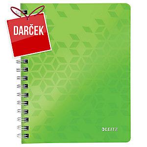 Leitz WOW špirálový zápisník, A5, linajkový, zelený