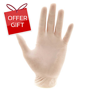 GLOVES LATEX MEDIUM PACK OF 100