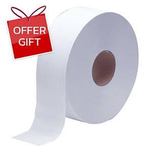 RIVERPRO Jumbo Roll Tissue 1 Ply 600 m
