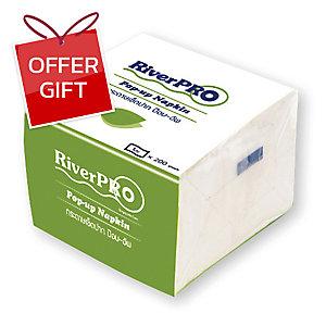 RIVERPRO ECONOMY POP-UP NAPKIN 200 SHEETS - PACK OF 12