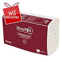 RIVERPRO กระดาษเช็ดมือ V-FOLD 2 ชั้น 300 แผ่น