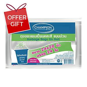 ROLL WASTE BAG 24X28 INCHES ASSORTED COLOURS PACK OF 24