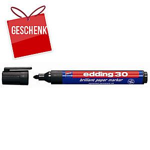 Permanent Marker Edding 30, Rundspitze, Strichbreite 1,5-3 mm, schwarz