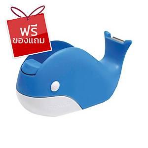 SCOTCH แท่นตัดเทปรูปปลาวาฬ แกน 1นิ้ว สีฟ้า