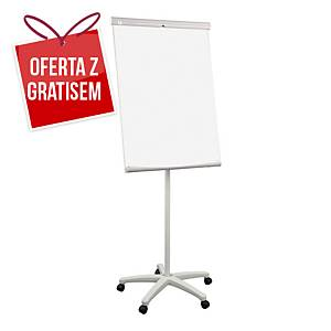 Flipchart 2x3 ECOMOBILECHART, mobilny, 70 x 100 cm