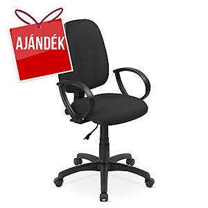 Flox irodai szék, permanens mechanika, fekete