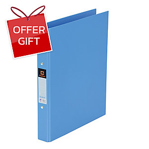 ELEPHANT 221 2-O-RING BINDER FOLDER A4 1   LIGHT BLUE