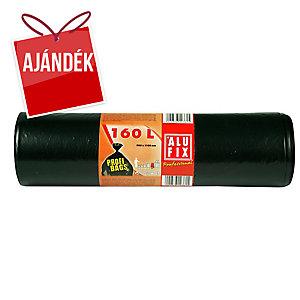 Alufix szemeteszsákok 45 mik., 180 l fekete, 10 db/tekercs