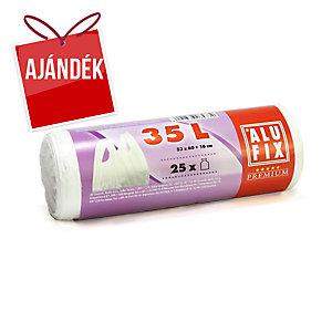 Alufix szemeteszsákok 10 mik., 35 l fehér, 25 db/tekercs