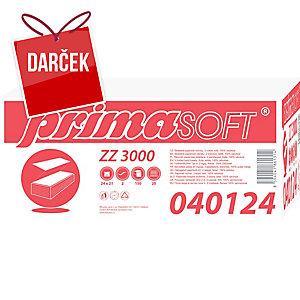 Skladané ZZ utierky PrimaSoft extra biele, 20 balení po 150 kusov