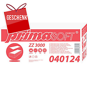 BM Plus Prima ZZ-Falthandtücher 2-lagig weiß, 20 Stück