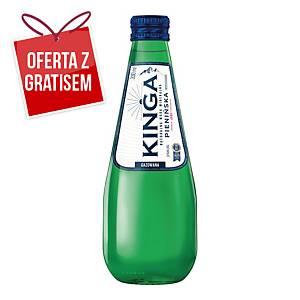 Woda mineralna KINGA PIENIŃSKA gazowana, zgrzewka 24 szklane butelki x 330 ml