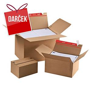 Výškovo nastaviteľná krabica ColomPac®, 229 x 164 x 50 až 115 mm, 10 kusov