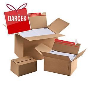 Výškovo nastaviteľná krabica ColomPac®, 304 x 216 x 130 až 220 mm, 10 kusov