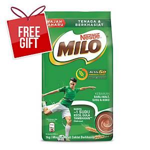 Milo Activ-Go Chocolate Malt Drink Refill Nestle - Pack of 1kg