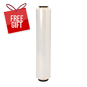 TRANSPARENT STRETCH FILM ROLL 500MM X 3KG - BOX OF 6