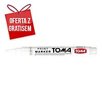 Marker olejowy TOMA TO-441, biały, 1,5 mm