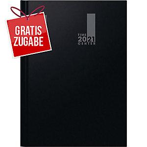 Buchkalender 2020 Brunnen 72941, 1 Monat / 2 Seiten, 210 x 297mm, schwarz