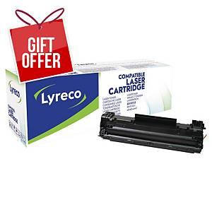 LYRECO LAS CART COMP HP CF283A BLK