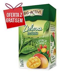 Herbata zielona BIG-ACTIVE opuncja z mango, 20 torebek