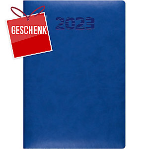 Agenda Simplex Simply Flex 6800J2, 1 Tag pro Seite, A5, Kunstleder, blau