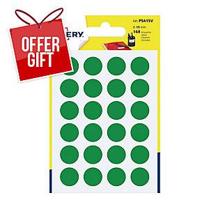 Avery PSA15V Dot Labels Dia15mm Green Pk168