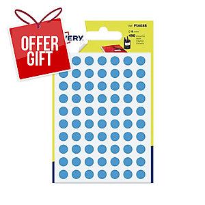 Avery PSA08B Dot Labels Dia8mm Blue Pk490