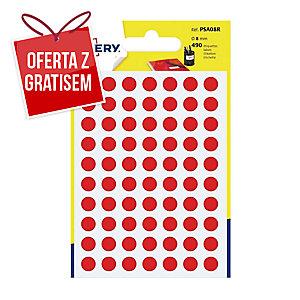 Kolorowe etykiety do zaznaczania AVERY ZWECKFORM kółka 8 mm, czerwone