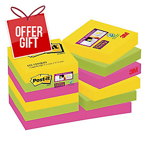Post-It Super Sticky Rio Notes Pk12