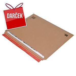 Obálka s rozšíriteľným dnom ColomPac®, 570 x 420 x 50 mm, hnedá