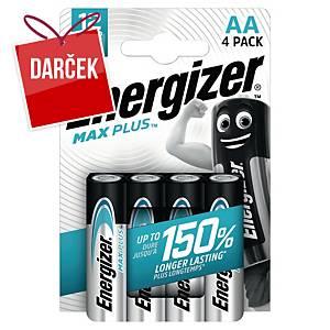 Batérie Energizer MAX PLUS, typ AA, 4 ks v balení