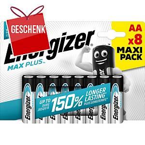 Batterien EnergizerMax PlusAA, LR6/E91/AM3/Mignon, Packung à 8 Stück