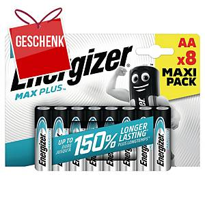 Energizer Alkaline Batterien MAX PLUS, 8 x AA