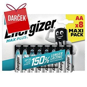 Batérie Energizer MAX PLUS, typ AA, 8 ks v balení