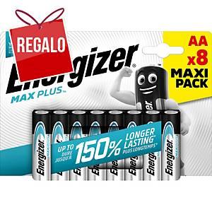 Batterie Energizer Max Plus AA, LR6/E91/AM3/Mignon, 8 pzi