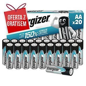 Baterie alkaliczne Energizer MAX PLUS AA, 20 szt.