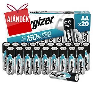 Energizer Max Plus elemek, AA/LR06, alkáli, 20 darab/csomag