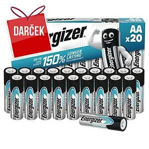 Batérie Energizer MAX PLUS, typ AA, 20 ks v balení