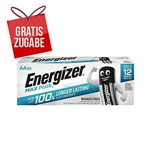 Batterie Energizer 638900, Mignon, LR06/AA, 1,5 Volt, MAX PLUS, 20 Stück