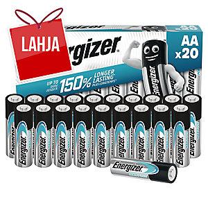 Energizer Max Plus alkaliparisto AA/LR6, 1kpl=20 paristoa