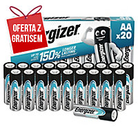 Baterie alkaliczne Energizer Eco Advanced AA, 20 szt.