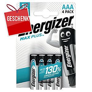 Energizer Alkaline Batterien MAX PLUS, 4 x AAA