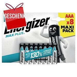 Energizer Max Plus Batterien, AAA/LR03, Alkaline, Packung mit 8 Stück