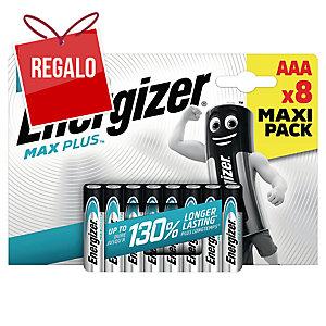 Pack de 8 pilas ENERGIZER Max Plus alcalina de 1,5V equivalencia LR03/E92/AAA