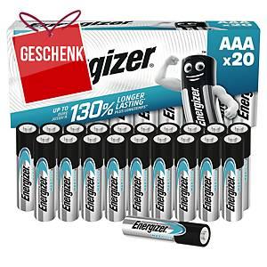 Batterien Energizer Max Plus AAA, LR3/E96/AM4/Micro, Packung à 20 Stück
