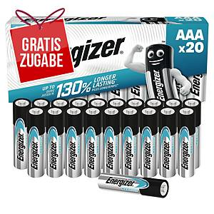 Batterie Energizer 638900, Micro, LR03/AAA, 1,5 Volt, MAX PLUS, 20 Stück