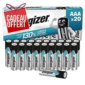 Pile alcaline Energizer Max Plus AAA/LR03 - pack de 20